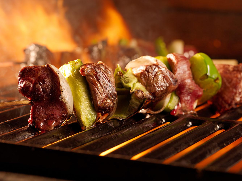 Grillad kebab på lammfärs