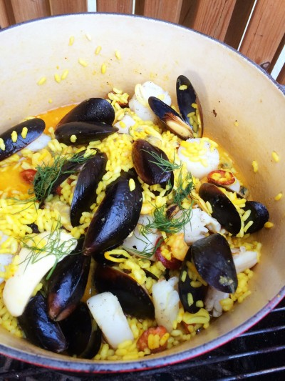 Grillad paella