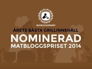 Grillpappan är nominerad till matbloggspriset 2014