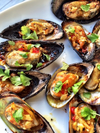 Grillade musslor, ett perfekt grillsnacks