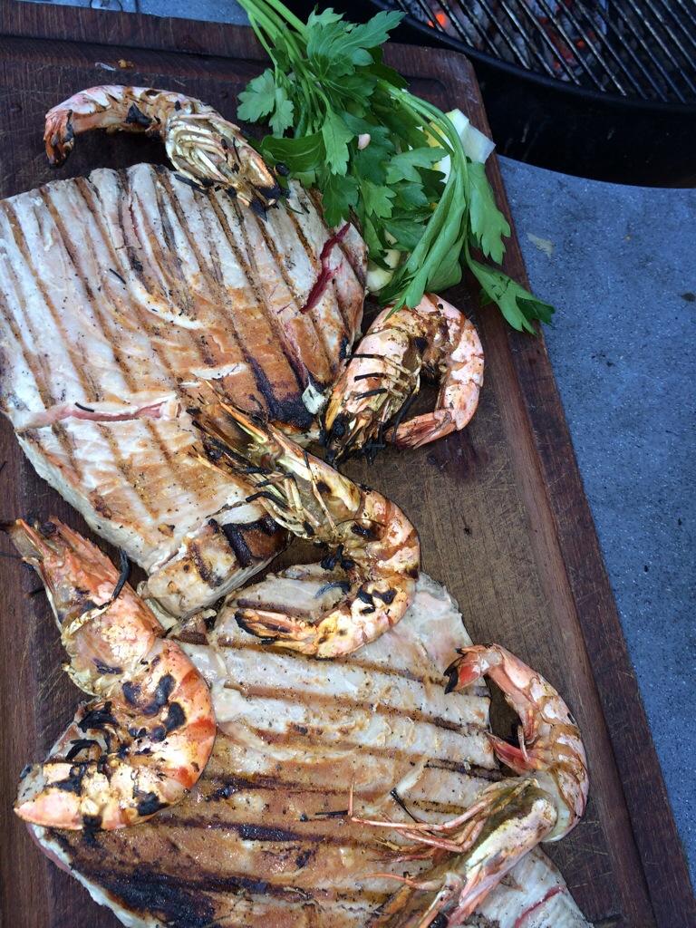 Grillad tonfisk
