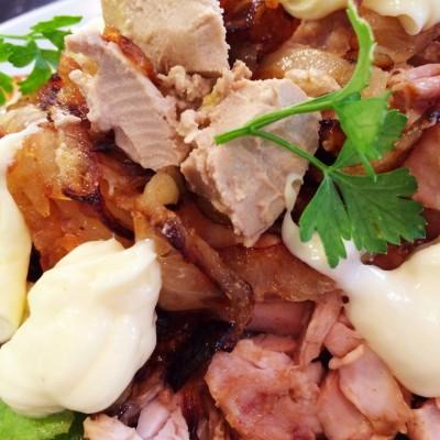 Grillat kycklinglår med foie gras